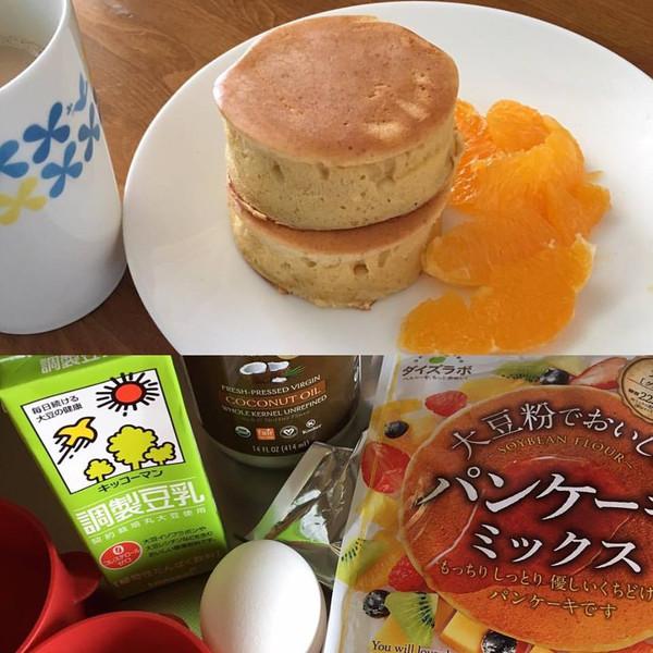パン ケーキ 粉 大豆